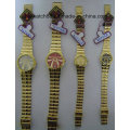 Antique Golden Brass Relógios de pulso para homens