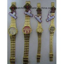 Movimento do Japão Relógios antigos para homens Mulheres Tom de ouro