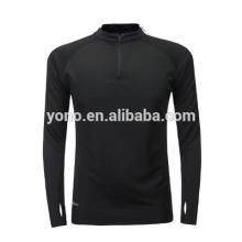 2017 nouveau modèle court demi-zip football formation costume blanc design football à manches longues maillot de football