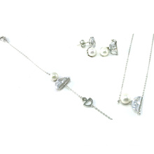 Wholesale White Gold Plated Silver 925 Jewelry Set (S3321)