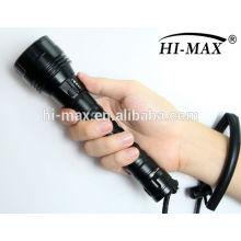 Cree xm-l t6 führte mit magnetischen Schalter Tauchen Taschenlampe 1000 LED-Aluminium-Taschenlampe