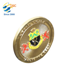 Promotional Collection Gifts 3D Brass Factory Price Brass Challenge Pretty Coin