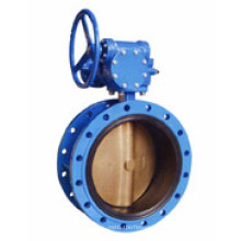 Doppelflansch-Typ Concentric Butterfly Valve (Getriebe)