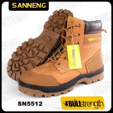 PU/PU Outsole Genuine Leather Safety Boot with Steel Toe (SN5512)