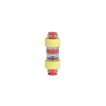 China factory wholesale cheap plastic Hdpe tube straight water union pneumatic fittings microduct gas block connectors