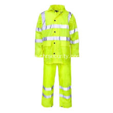Impermeable de seguridad reflectante y baberos