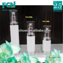 PP White luxury cosmetic packaging 15ml 30ml 50ml airless bottle