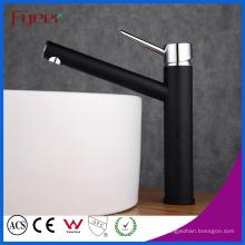 Fyeer Contemporary High Arc - Ahorro de agua, grifo de lavabo negro