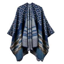 Fashion Light Comfortable Pretty Woman Girl AZTEC and stripe Poncho & Wraps viscose fake pashmina shawl turkish pashmina