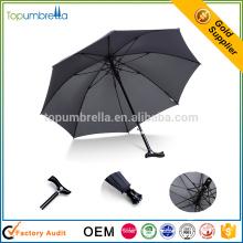 Professionelle kostenlose Probe China Fabrik einzigartige Gehstock Regen Regenschirm