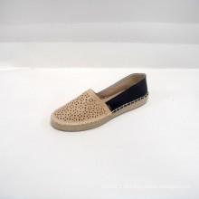 2014 завод прямых продаж милые женщины Banded квартиры обувь ПУ обувь спортивного отдыха лазерный PU OAK Espadrille