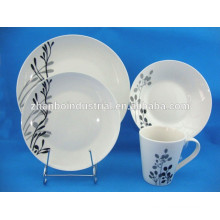 Crockery dinnerware set with decal,floral dinnerware sets porcelain
