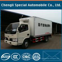 4X2 Dongfeng Marca 4tons Frigorífico Caminhão Fabricantes Fornecedor