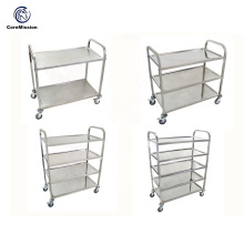 Kitchen Stainless Steel Dining Trolley with Brakes