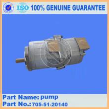 Bomba de engrenagens 705-51-20140 para peças de carregadeira de rodas WA300-1 komatsu
