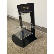 Acrylic Jewellery Display Sets Black Metal Frame Lockable Portable Counter Top Jewelry Showcase