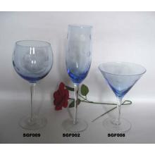 Handgefertigte bleifreie Weinglas Champagner Flöten