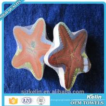 Customize round shape magic decorative hand towels
