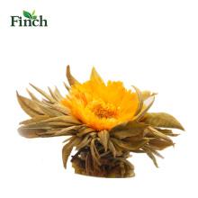 Finch Hot Sale floreciente bola de té con flor de caléndula en paquete de regalo