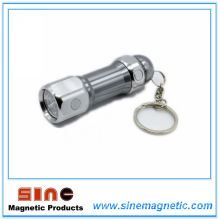 Aluminum Alloy Key Chain with Magnet and Light