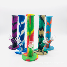Professional wholesale small rubber expression cartoon honeycomb smoke pot silicone water pipe smoking