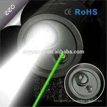 Ponteiro laser verde ponteiro laser com iluminação de laser ao ar livre de cor verde