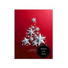 Красная новогодняя елка Снежинки