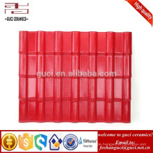 Bamboo Wave Asa beschichtetes Kunstharz Dachziegel Breite 960 mm extrudierte Dachplatte