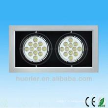 Shenzhen fabrique des lampes ultra lumineuses de haute puissance approuvées 14w 18w 20w led grille light