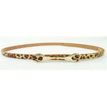 Мода женщина талии имитация леопарда кожи ПУ тонкий ремень