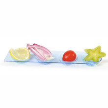 Disposable Saucer 4 Compartment Round Plastic Tray