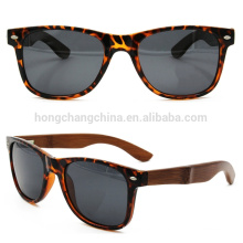 clear plastic frame with bamboo print arms,bamboo sunglasses 2016