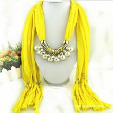 Fashion Women's Elegant Charm Tassels Rhinestone Decorated Jewelry wholesale pendant necklace scarf