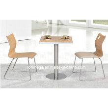 Food Court Möbel Modern Wooden Cafe Cocktail Tisch (FOH-BC05)