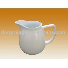 Custom logo white porcelain milk pitcher
