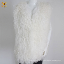 Neue Winter-Art- und Weisegroßverkauf-Frauen-weiße Pelz-Weste