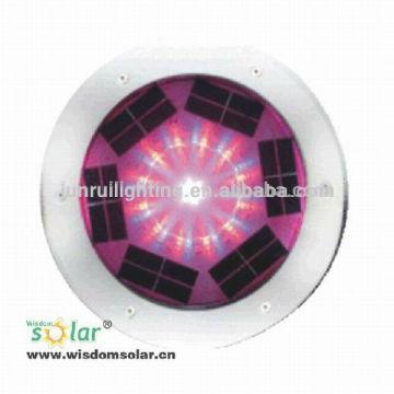 Lumière marine solaire aluminium, solaire métro léger en aluminium, brique étanche voyants