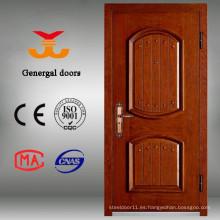 Los colores de pintura de madera de acero terminan la puerta de madera exterior
