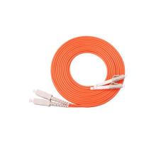 Multimode LC-SC Connector Duplex Fiber Optic Patch Cord