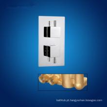 Válvula de chuveiro e misturador de chuveiro termostático e alças duplas