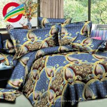 hermosa microfibra impresa textil hoja cama hogar conjuntos