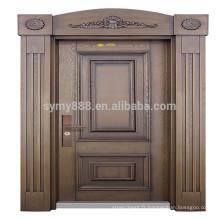 porte principale indienne conçoit la porte en acier avec la serrure d'empreinte digitale