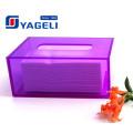 Kundenspezifische Farbe Quadrat Acryl Lucite Tissue Box