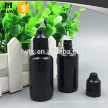 10ml 20ml 30ml flacon compte-gouttes en plastique noir