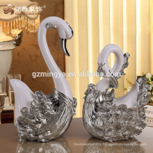 Animal design wedding favor home decoration items business gift swan lovers resin statue