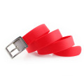 "1.5"""" width customized silicon belt with metal buckle"