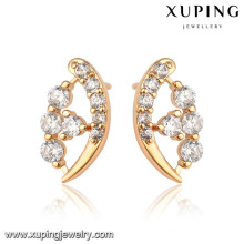 92467 xuping en gros simple conçu boucles d'oreilles plaqué or