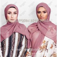 Tingyu original production whosale basics women solid color hijab scarf dubai stylish muslim