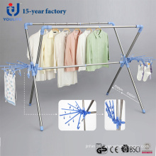 Extensible acero inoxidable X-tipo suspensión secado de ropa