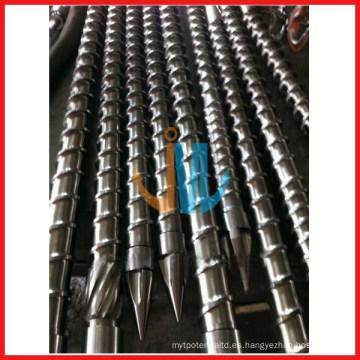Barril de tornillo de máquina de moldeo por inyección